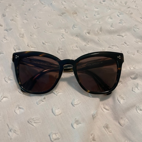 Oliver Peoples Brown Marianela Square Sunglasses